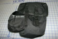 "black messenger bag nylon 12"" x 8"" x 3"" with straps and shoulder leg buckle new"