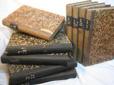 Rare OLD Antique GERMAN Military BOOKS 9 vol set 1878