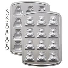 Wilton 3-D Mini Bear Pan 2105-0545 Makes 12 Includes 2 pans 6 Clips