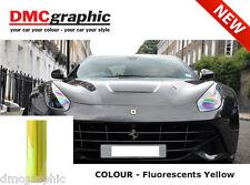 2xA4 chameleon fluorescent jaune auto moto phare rearlight tinting film