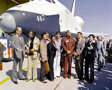 STAR TREK CAST WITH SPACE SHUTTLE ENTERPRISE 8x10 PHOTO