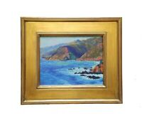California Artist REY. Fine Painting Coastal Big Sur Carmel Landscape Plein Air