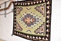 VINTAGE NATIVE AMERICAN INDIAN NAVAJO RUG WEAVING TWO GREY HILLS TEXTILE 50x45