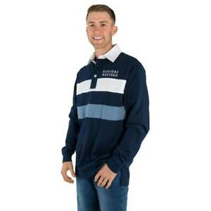 Seaton Navy / White Mens Rugby Jersey Ringers Western