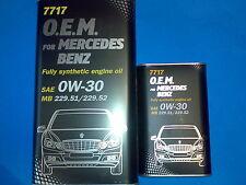5L MANNOL 0W-30 Motoröl 7717 O.E.M.OEM für Mercedes MB 229.51 MB 229.52 229.31
