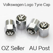 Volkswagen VW Logo Emblem Wheel Tyre Tire Cap Valve Stems Air Dust Cover Screw C