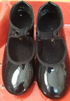 Theatricals Girl's Black Patent Size 10W Tap Dance Shoes