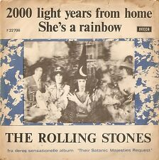 THE ROLLING STONES 2000 LIGHT YEARS FROM HOME EXPORT DANISH PICTURE SLEEVE 1967