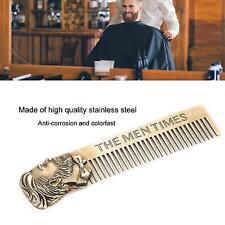 Beard Comb Mens Shaving Pocket Comb Male Stainless Steel Mustache Brush HL