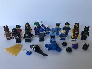 Lego Assorted Themed Minifigs Mini figure Lot of 15 Joker Batman Police