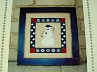 Cross Stitch Kit Sekas & Co A Snowman Square Chart Plus Fabric 10 Ct Linen New