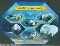 SOLOMON ISLANDS  2014 WORLD OF MANATEES  SHEET  MINT NH