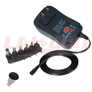3V 4.5V 5V 6V 7.5V 9V 12V 2A 2.5A 30W AC/DC Power Adapter supply adjustable