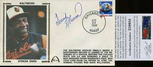 Frank Robinson Signed Psa/dna Certified 1988 Fdc Authenticated Autograph