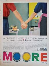 1955 Benjamin Moore Colonial Green Color Paint Perfect Match Holding Hands Ad