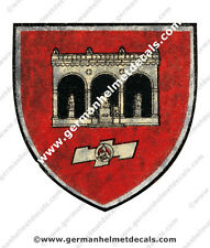 Pre aged WW II German helmet decal - SA Regiment Feldherrnhalle for M35 M40 M42