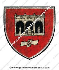 Pre aged WW II German helmet decal - SA Regiment Feldherrnhalle for M35 M40 M42