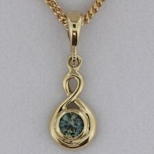 Natural Australian Sapphire Pendant Design 3072 in 9ct Yellow Gold