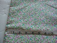 """Vintage cotton /polyester print fabric-tiny floral &vines on white 1 yd 18"""" by 4"""