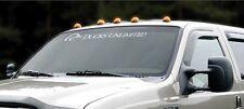 DUCKS UNLIMITED WINDSHIELD GRAPHIC LOGO DECAL CAR TRUCK AUTO FULL FULL WINDOW
