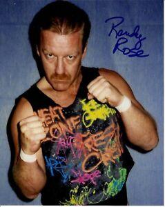 Randy Rose Signed NWA 8x10 Photo AWA WWE
