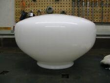 Large School House Milk White Glass Globe