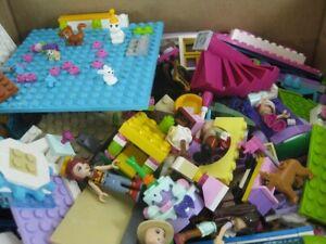 7 Lb Pound Lot Of Lego Friends Elves Pets 100's Of Parts & Pieces