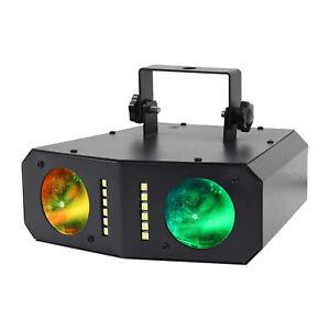 Equinox Boogie Dual LED Colour Changing Effect Lighting Unit - Black (EQLED376)