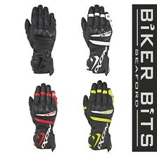 IXON RS TEMPO AIR Motorcycle Summer Vented Leather Racing Gloves CE Level 1