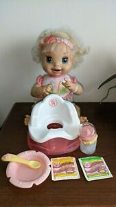 Baby Alive Learns to Potty doll, Hasbro, 2007, rare, moves eyes and mouth, talks