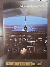 "Original Mooney Equipment & Colors Sales Brochure, 4 Page, 8.5 x 11"""