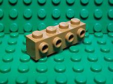 Lego NEW dark medium flesh 1 x 4 modified bricks with 4 side studs   Lot of 5