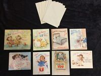 Darling Vintage Set of Birthday and Get Well Cards in Original Box