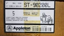 "ST90200L APPLETON 2"" 90°GRD. SEALTITE CONNECTORS CASE OF 5"