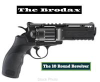 Umarex Brodax Air Pistol-Black 10 Round Revolver FastFree Shipping