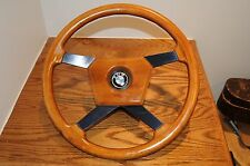 Vintage BMW MOMO 9-80 Steering Wheel & Hub Adapter for BMW Made in Italy 2003 ..
