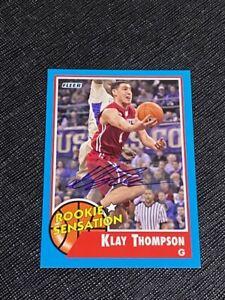 2011 Fleer Retro Klay Thompson RC ROOKIE Sensation Auto Card