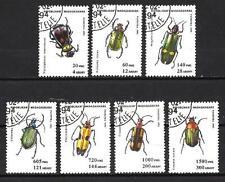Insectes Madagascar (24) série complète de 7 timbres oblitérés