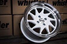 Whistler KR7 Wheels Rims 16x9 4x100 15 Offset White EG EK Civic Integra Scion xB