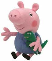 "Ty UK George (Peppa Pig) Beanie 6"" UK Seller New Xmas Plush Toy Peppa"