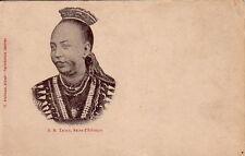 ETHIOPIE - S.M. TAITON - REINE D'ETHIOPIE - CARTE NEUVE - LEGEREMENT DECOLEE.