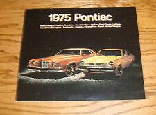 Original 1975 Pontiac Full Line Sales Brochure 75 Firebird Grand Prix LeMans
