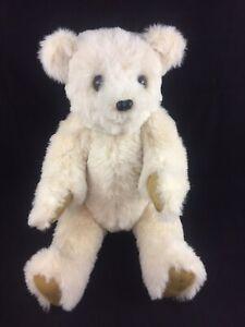 "Handcrafted 20"" OOAK Jointed Plush Teddy Bear Vintage 1991 Grandma Okla Gnagg"