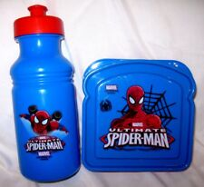 Marvel Comics Ultimate Spider-man 2 pc mealtime-sandwich container+ water bottle