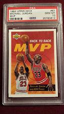 Michael Jordan 1992 Upper Deck Bach To Back MVP PSA 10 Gem Mt Rare !