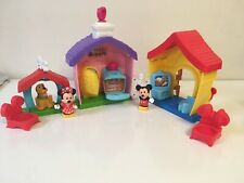 Fisher-Price Little People Magic of Disney Mickey and Minnie's House Playset EUC