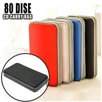 80 CD VCD DVD Disc Storage Carry Case Bag DJ Holder Ring Binder Waterproof