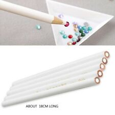 10x Nail Art Dot Pencil Pen Rhinestones Gems Picking Tool