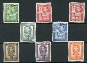 Somaliland 1938 short set to 12a MM SG93/100 cat £77