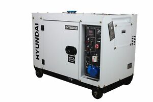 HYUNDAI Silent Diesel Stromerzeuger DHY8600SE D, Not-Stromaggregat, Generator